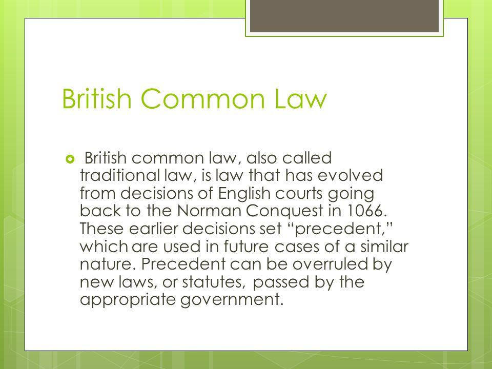 British Common Law
