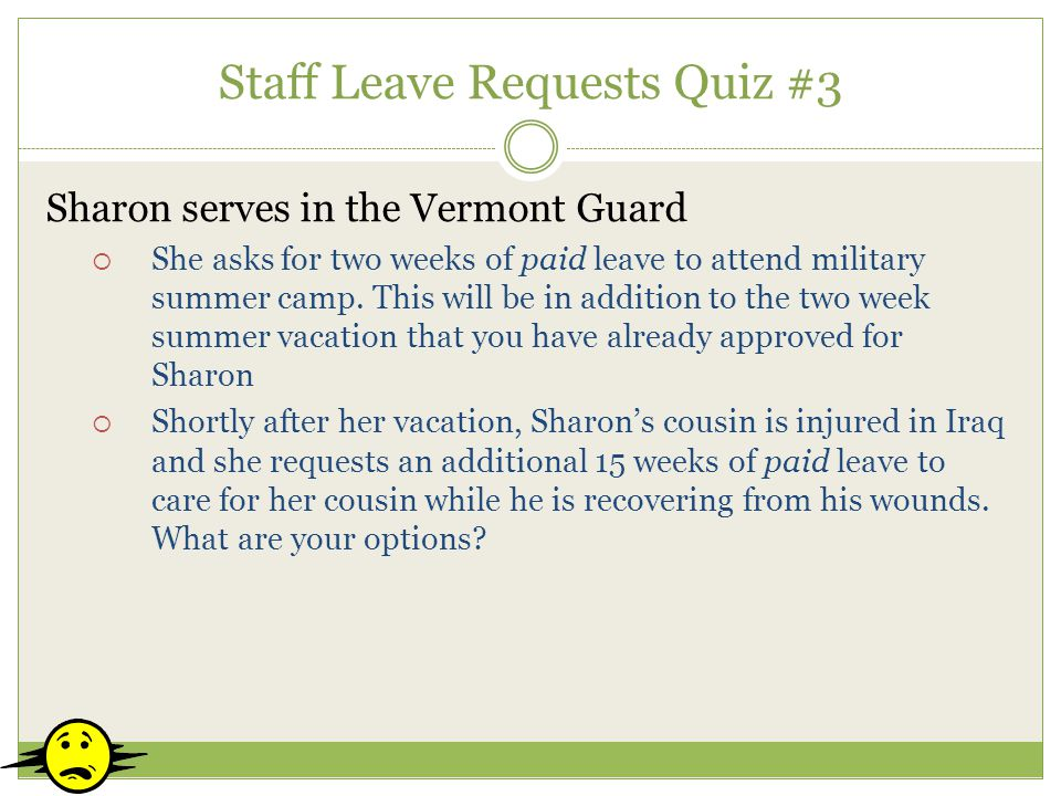 Staff Leave Requests Quiz #3