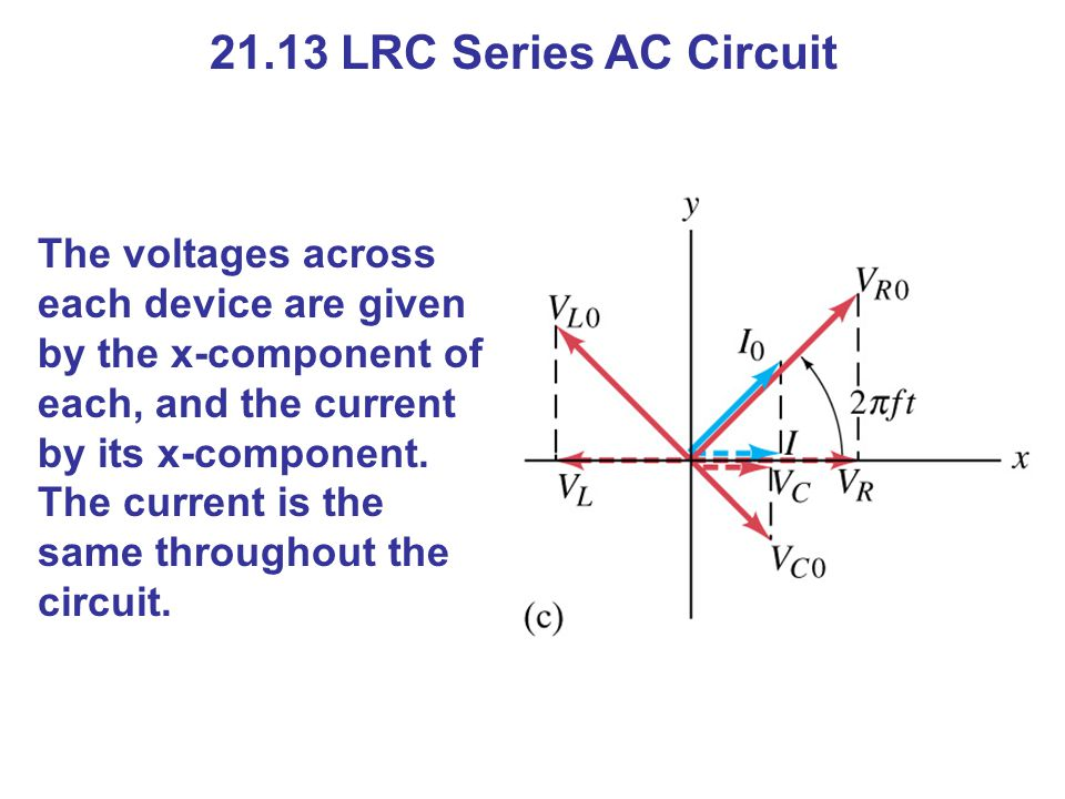 21.13 LRC Series AC Circuit