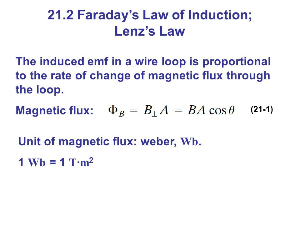 21.2 Faraday's Law of Induction; Lenz's Law