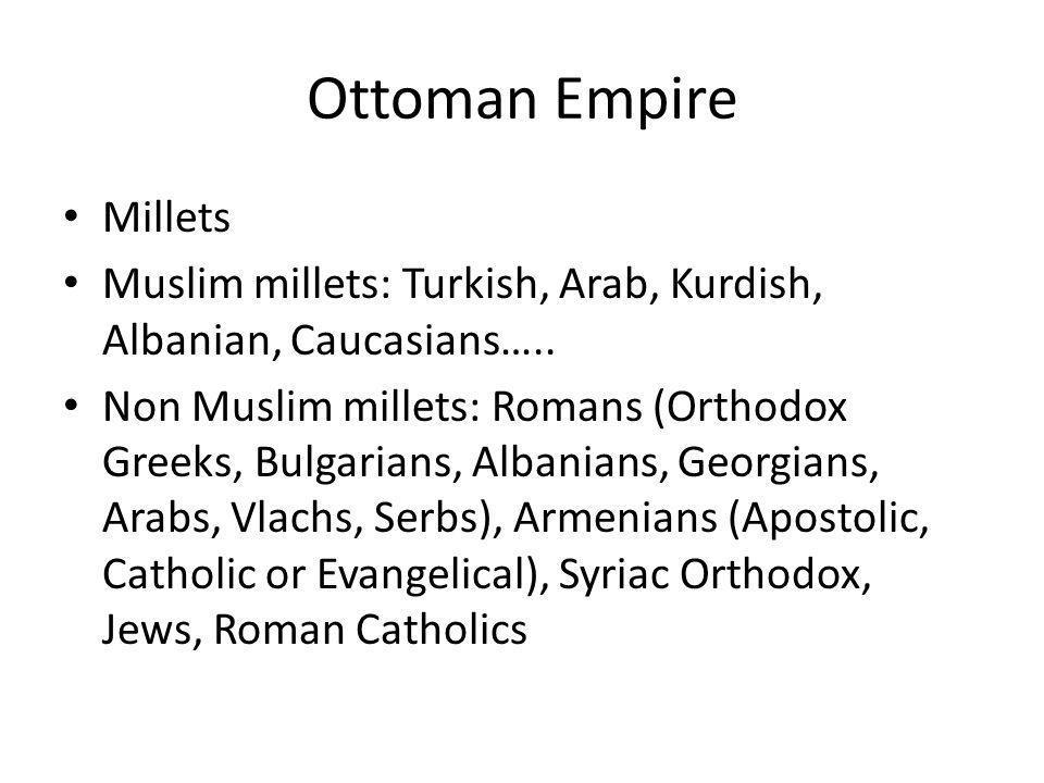Ottoman Empire Millets