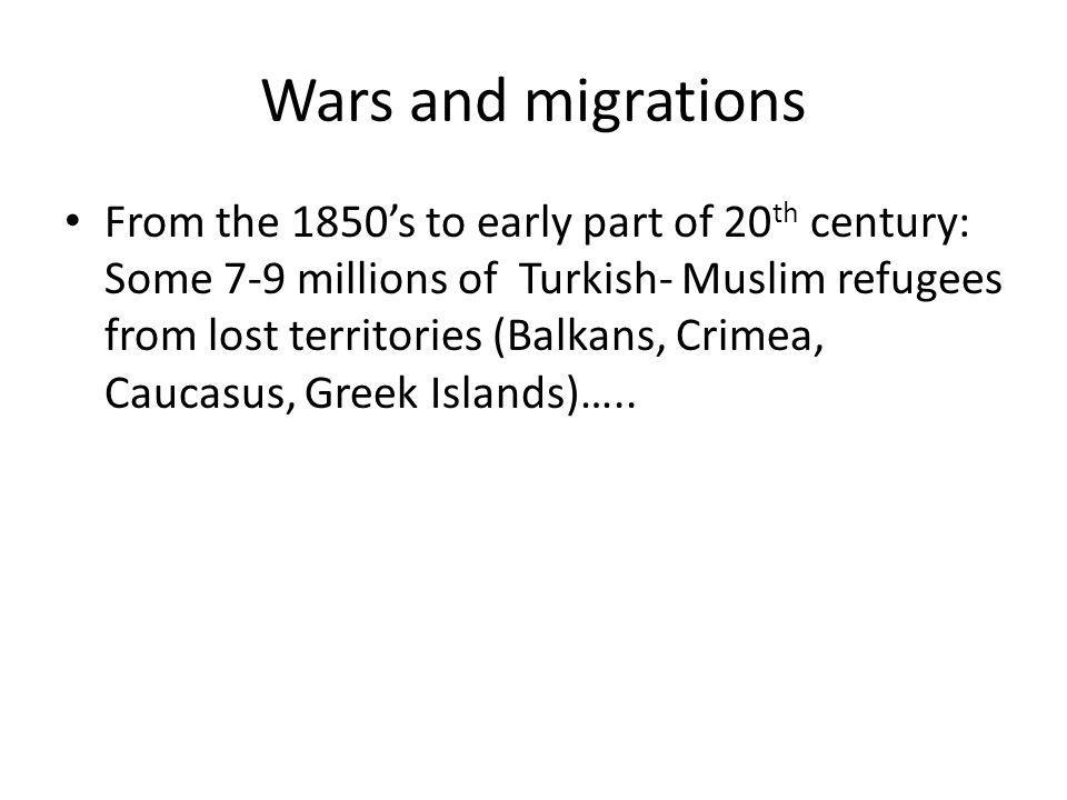 Wars and migrations