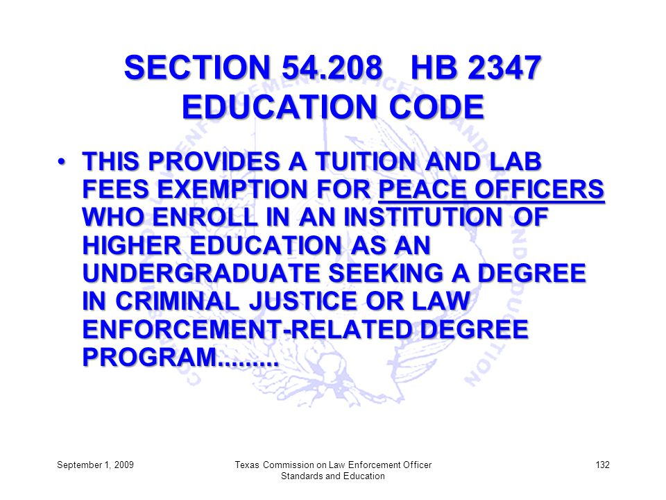 SECTION 54.208 HB 2347 EDUCATION CODE