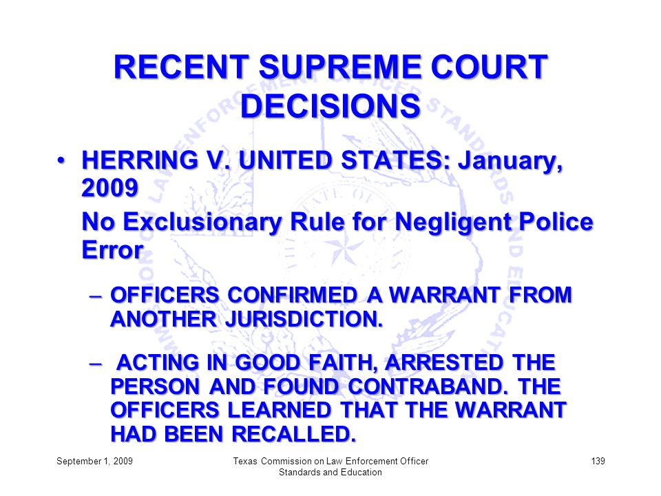 RECENT SUPREME COURT DECISIONS