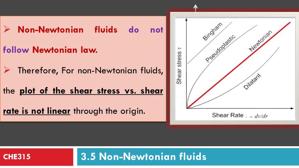 Shear Stress Shear Rate 3.5 Non-Newtonian fluids