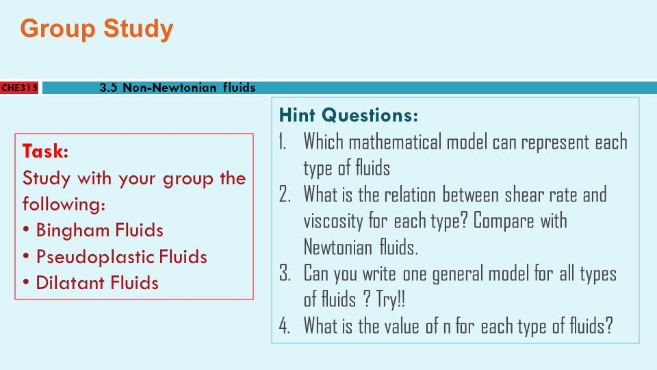 Group Study Hint Questions: