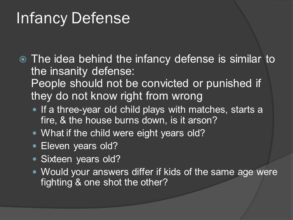 Infancy Defense