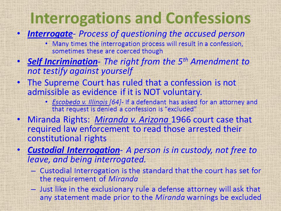 Interrogations and Confessions