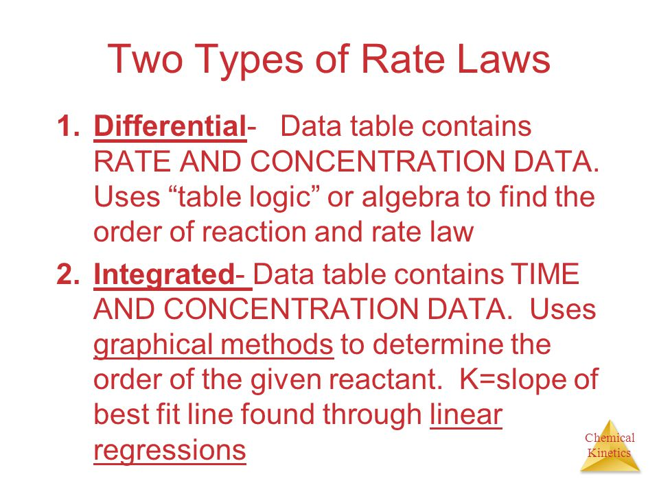 Two Types of Rate Laws