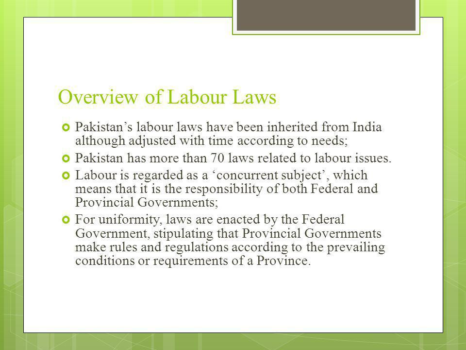 Overview of Labour Laws
