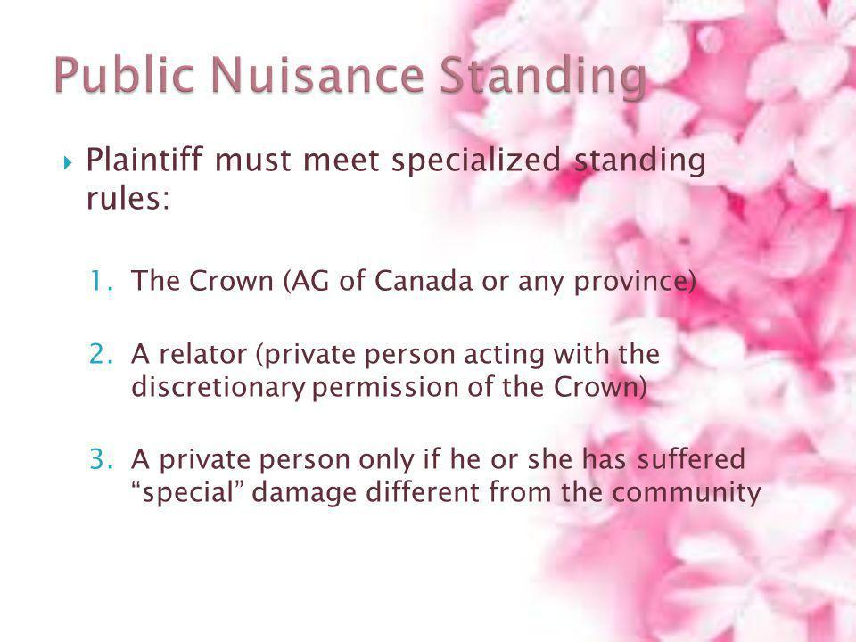 Public Nuisance Standing