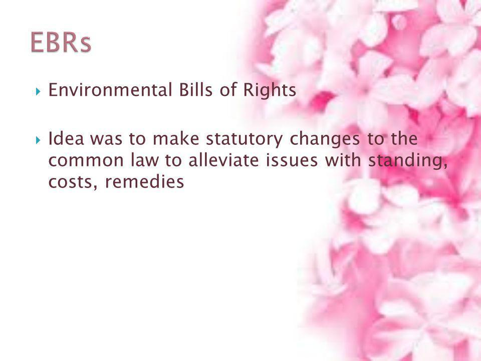 EBRs Environmental Bills of Rights