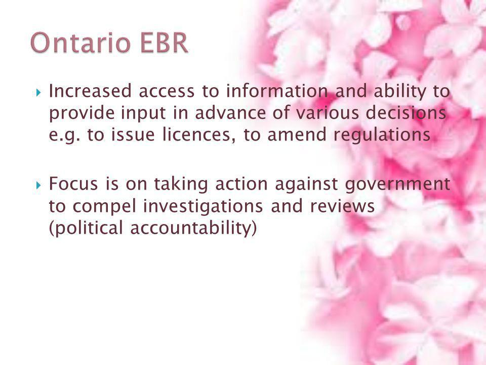 Ontario EBR