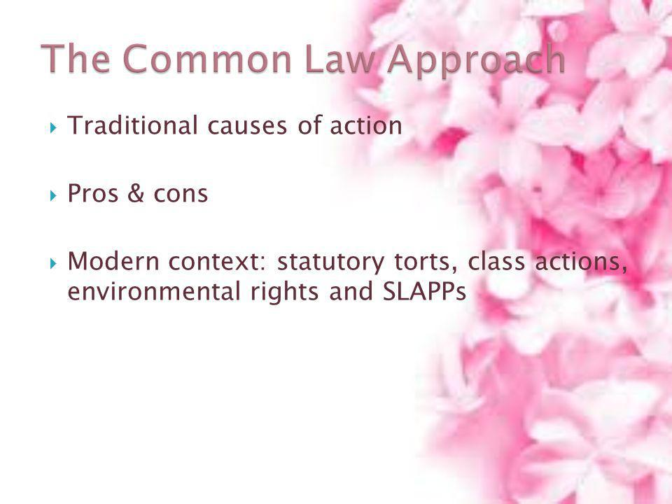 The Common Law Approach