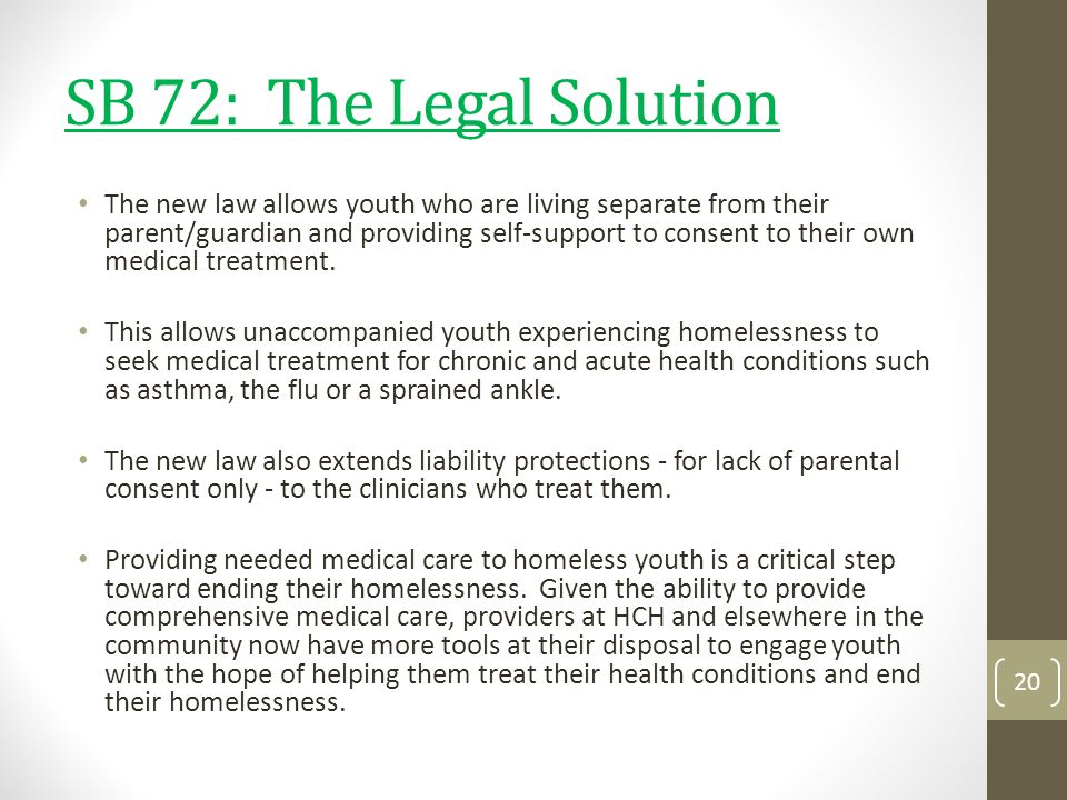 SB 72: The Legal Solution