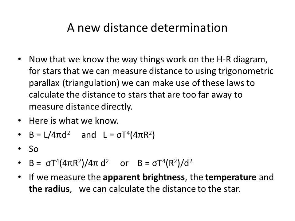 A new distance determination