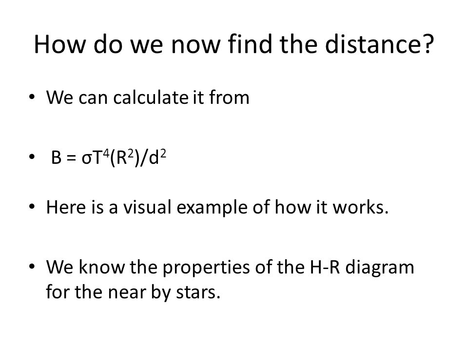 How do we now find the distance