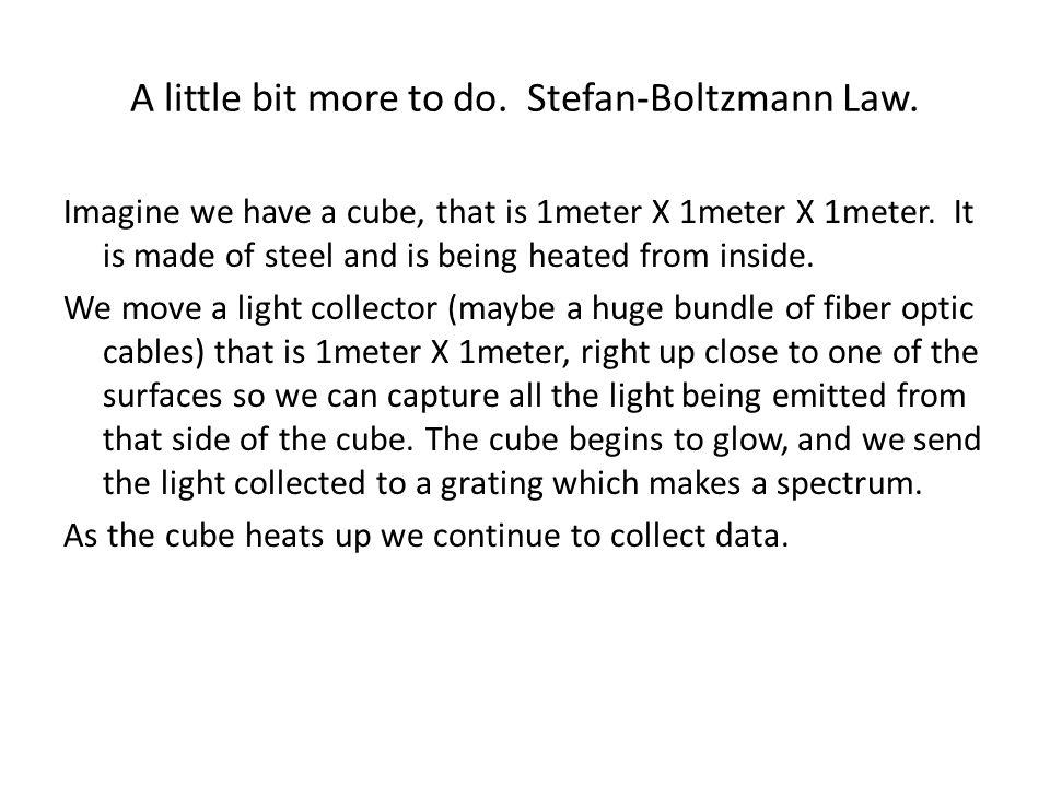 A little bit more to do. Stefan-Boltzmann Law.