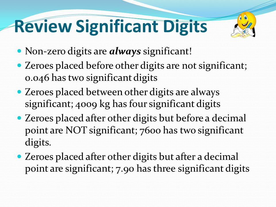 Review Significant Digits