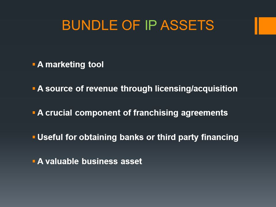BUNDLE OF IP ASSETS A marketing tool