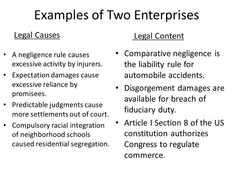 Examples of Two Enterprises