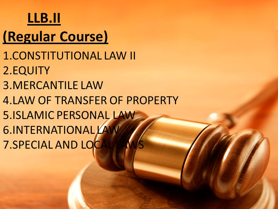 LLB.II (Regular Course)