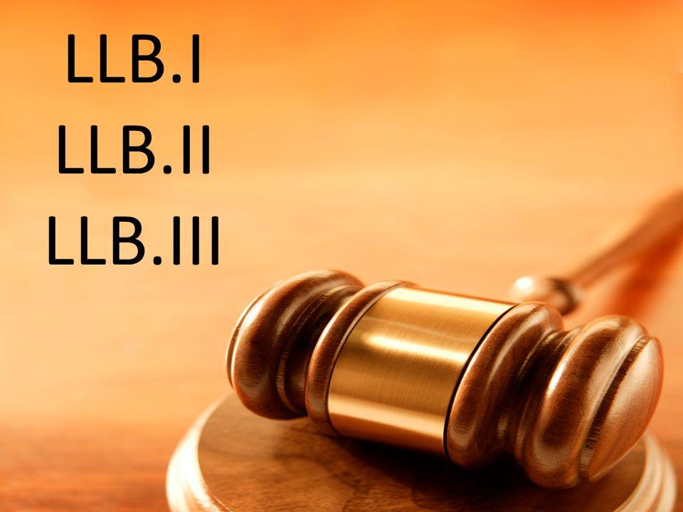 LLB.I LLB.II LLB.III