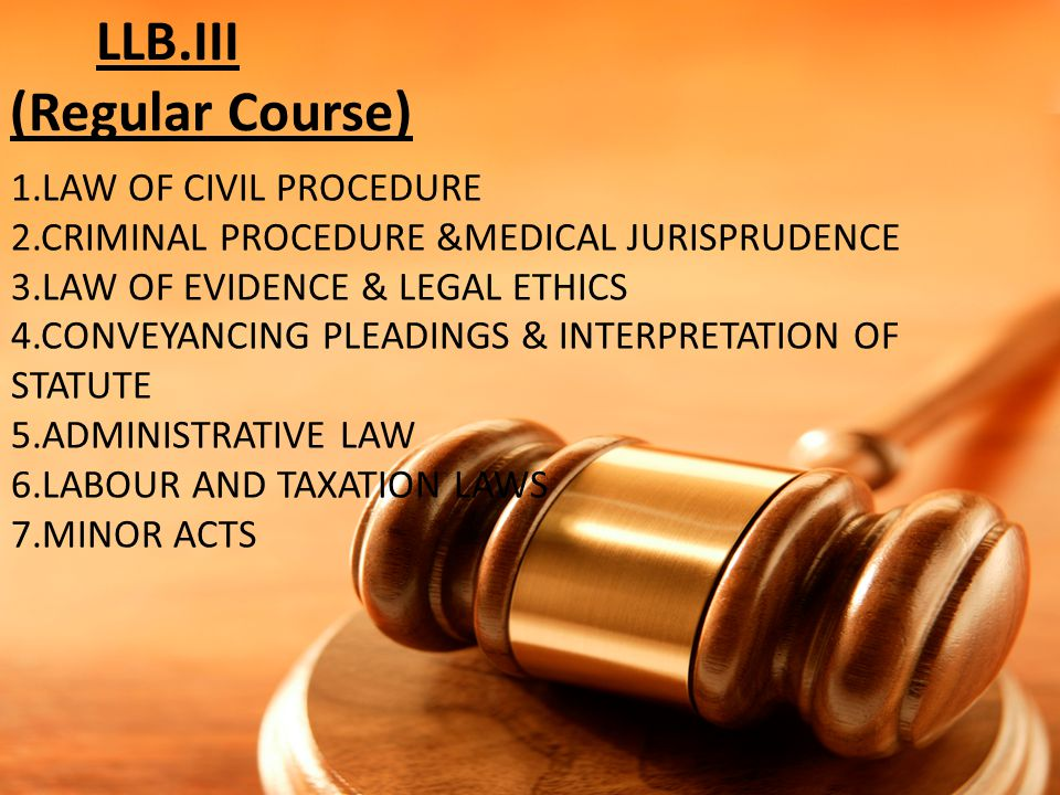 LLB.III (Regular Course)