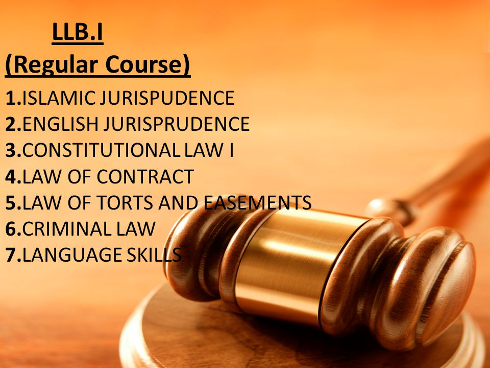 LLB.I (Regular Course)