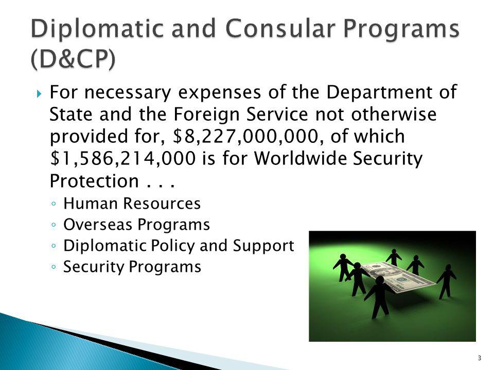 Diplomatic and Consular Programs (D&CP)