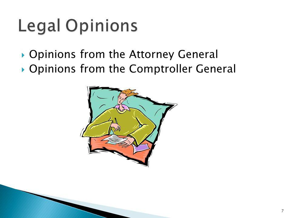 Legal Opinions Opinions from the Attorney General