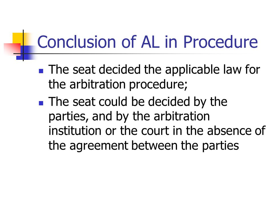 Conclusion of AL in Procedure