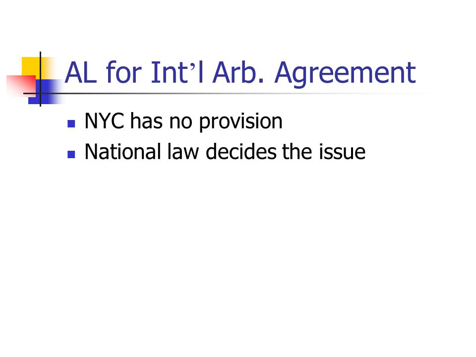 AL for Int'l Arb. Agreement