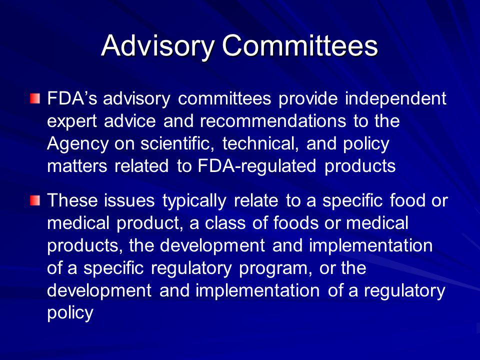 Advisory Committees