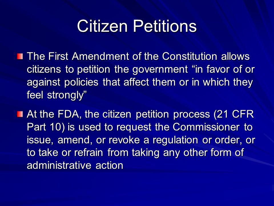 Citizen Petitions