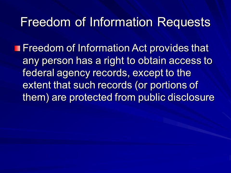 Freedom of Information Requests