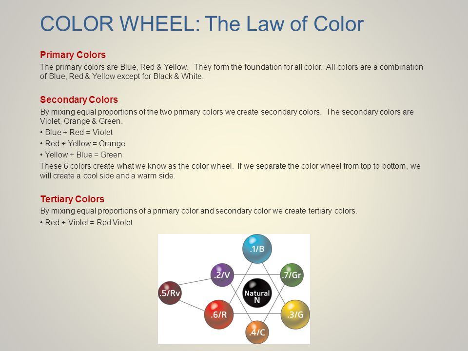 COLOR WHEEL: The Law of Color