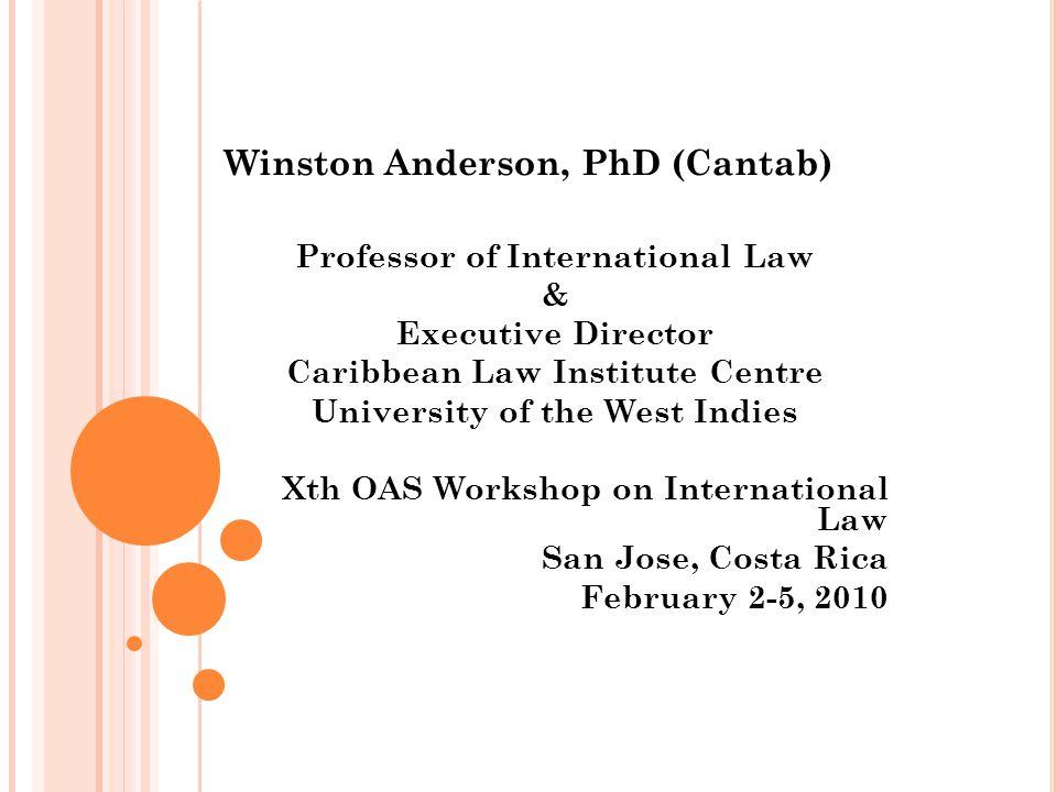 Winston Anderson, PhD (Cantab)