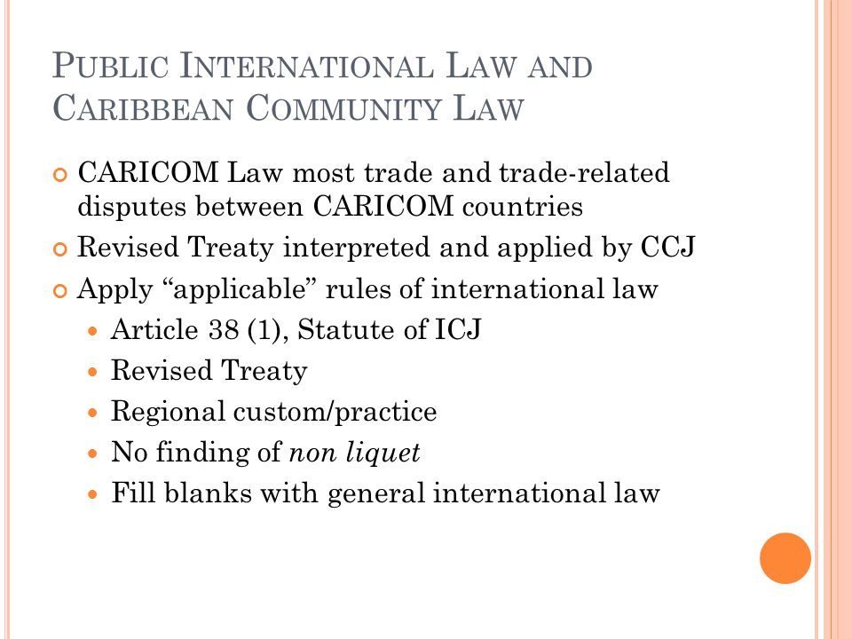 Public International Law and Caribbean Community Law