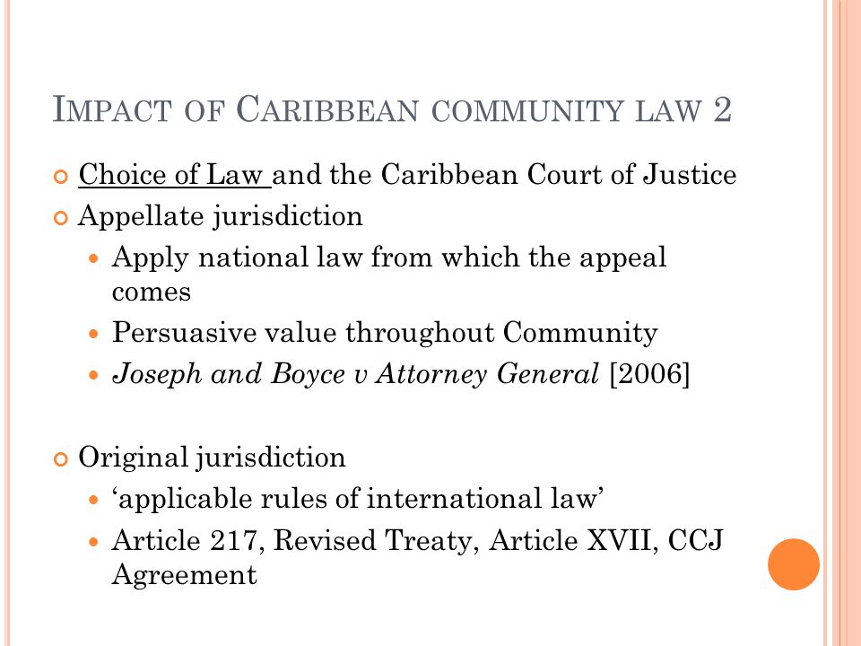Impact of Caribbean community law 2