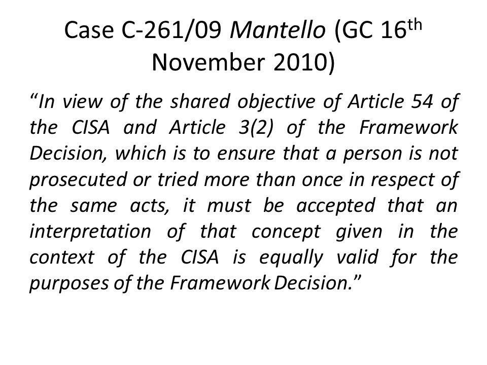 Case C-261/09 Mantello (GC 16th November 2010)