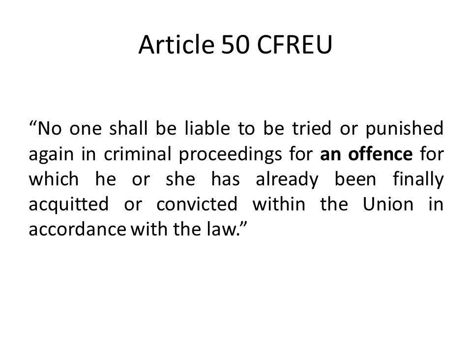Article 50 CFREU