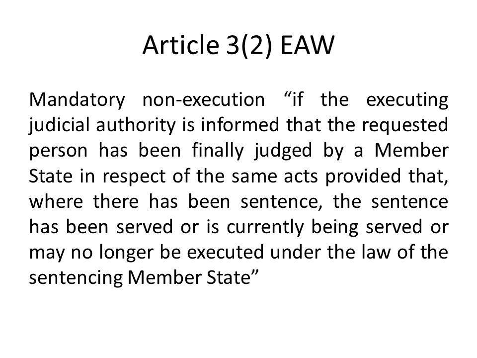 Article 3(2) EAW