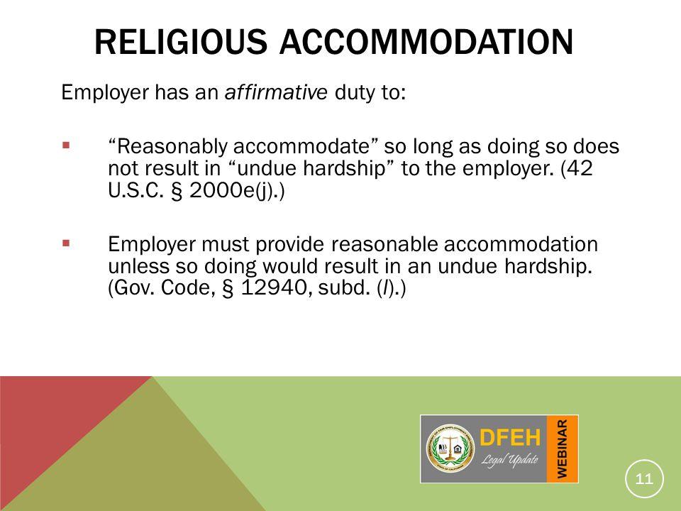 Religious Accommodation