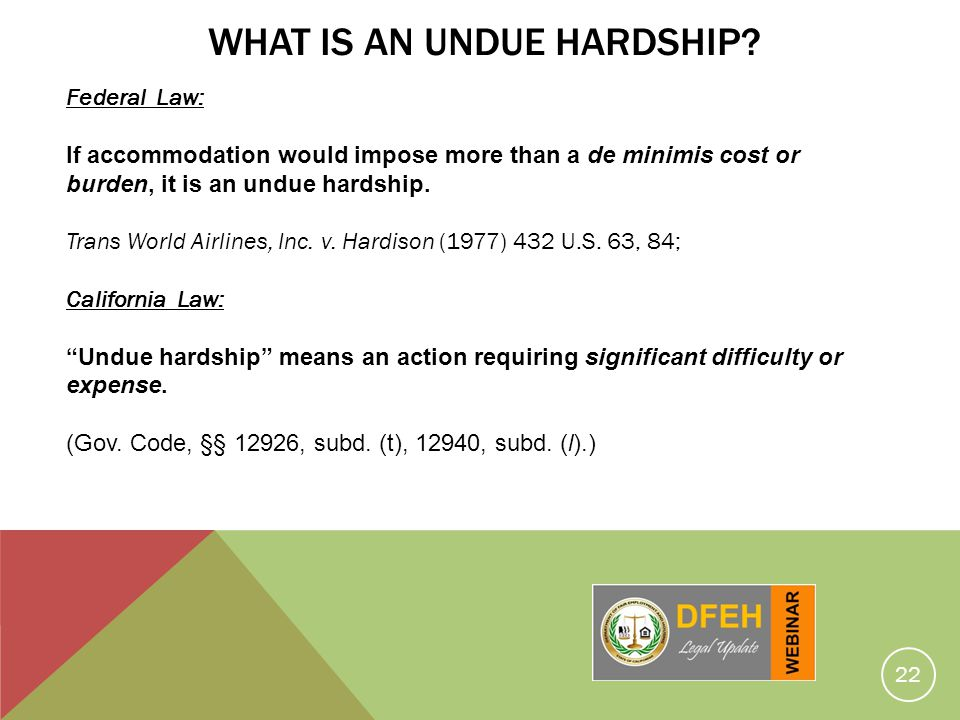 What Is An Undue Hardship