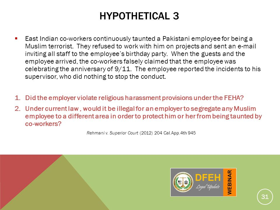 Rehmani v. Superior Court (2012) 204 Cal.App.4th 945