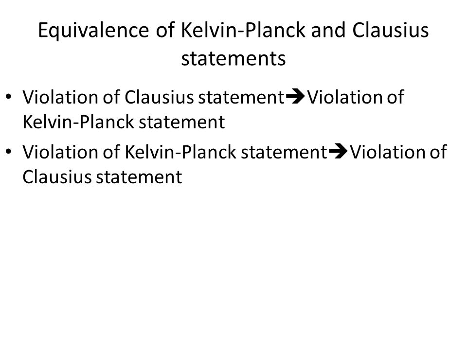 Equivalence of Kelvin-Planck and Clausius statements