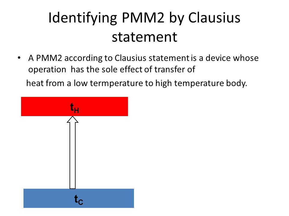 Identifying PMM2 by Clausius statement