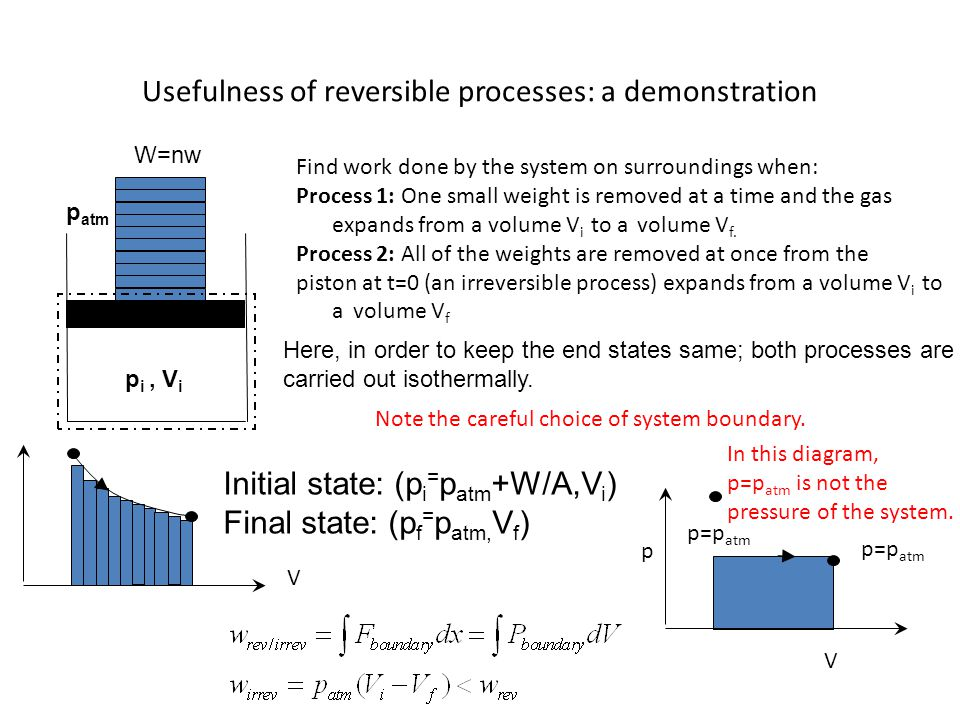 Usefulness of reversible processes: a demonstration