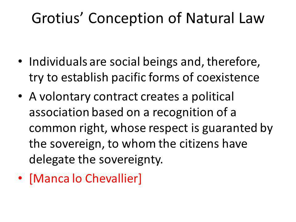 Grotius' Conception of Natural Law